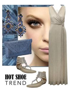 """Blue Steel"" by shoppe23online ❤ liked on Polyvore featuring M&Co, FabulousFashionAccessories and anklewrapflats"