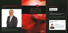 REIWA Awards - Feeling excited, humbled, proud, elated, honored, appreciative, overjoyed, delighted, thrilled, and overall very happy!   Congratulations John Percudani, Anita Percudani, Jennifer Wright, and everyone who has been a part of Realmark!
