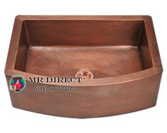 MR Direct 914 Apron Copper Sink, Copper Strainer - rustic - kitchen sinks - MR Direct Sinks and Faucets Rustic Kitchen Sinks, Traditional Kitchen Sinks, Apron Sink Kitchen, Single Bowl Kitchen Sink, Kitchen Sink Faucets, Kitchen Ideas, Farmhouse Sinks, Country Kitchen, Barn Kitchen
