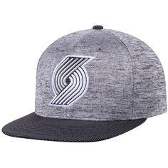 a1fc6a55bc3 Men s Portland Trail Blazers Mitchell   Ness Heathered Gray Black Space  Knit Snapback Adjustable Hat