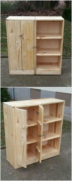 Would make a nice workshop cabinet. #woodworkingideas