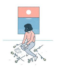 Poster design for singer songwriter Kensuke Yamamoto - by Tallulah Fontaine