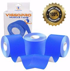 ViggoPro KT Tape - Package of 3