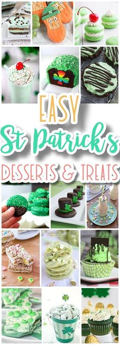 The BEST St. Patrick\'s Day Desserts and Treats Recipes - Lucky Green Sweets for your Spring Holiday Party - Dreaming in DIY