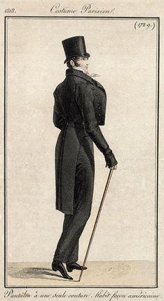 Men's daywear, 1818.