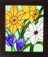 Image result for stained glass flowers