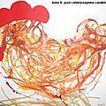 Voici deux interprétations plastiques de la petite poule rousse faites par les élèves d'Anne S., du lycée français de Cotonou au...