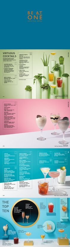 Love the design in Be At One's cocktail menu.