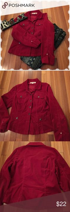 Cute Corduroy Jacket Cute corduroy red jacket. Perfect for those cool days & nights. A.M.I. Jackets & Coats