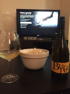 Perfect Friday Night Butter Chardonnay, White Wine, Alcoholic Drinks, Friday, Night, Bottle, Glass, Drinkware, Alcoholic Beverages