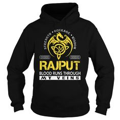 RAJPUT Blood Runs Through My Veins (Dragon) - Last Name, Surname T-Shirt