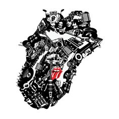 In Collaborative Project, Designers Create 50 New Logos For The Rolling Stones. Rolling Stones Tattoo, Rolling Stones Logo, Rock N Roll, Cool Album Covers, Fan Art, Keith Richards, Music Love, Rock Music, Illustrations
