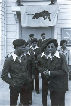 Black Panther Party members.