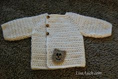 Baby Bear Cardigan An Easy Baby Crochet Cardigan Sweater Pattern (Newborn months) FREE Crochet Patterns-Crochet Patterns- Baby-Boy-Cardigan-patterns-Easy-Hooded-Crochet-Cardigan-Pattern-FREE Crochet Baby Sweater Pattern, Crochet Baby Sweaters, Gilet Crochet, Baby Sweater Patterns, Crochet Baby Clothes, Easy Crochet Patterns, Baby Patterns, Clothes Patterns, Crocheted Toys