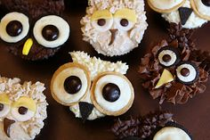 Pure Delights Baking Co.: Owl Cupcakes!