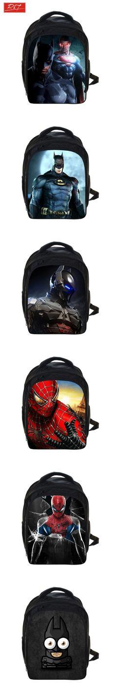 Batman Superman Backpack Kids School Bags For Boys Daily Backpacks Children Backpack Hero Spiderman Bookbag Schoolbags Best Gift $21.47
