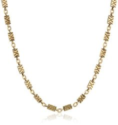 """Lucky Brand """"Mar14 Modern Metals"""" Beaded Tribal Triangles Chain Necklace, 17"""" Lucky Brand http://www.amazon.com/dp/B00HYVPUYO/ref=cm_sw_r_pi_dp_ROb7tb1KJ6HCT"""