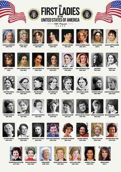 The First Ladies of the United States by Zapista OU World History Facts, World History Teaching, History Education, Us History, American History, History Pics, Ancient History, Native American, First Lady Of America