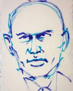 いいね!8件、コメント1件 ― @1mindrawのInstagramアカウント: 「#1mindraw #yulbrynner #ユルブリンナー #19200711 #birthday #誕生日 #portrait #筆ペン画」