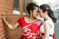 indian lesbian wedding  | Yana and Archita got married at the Trust, a neoclassical styled art ...