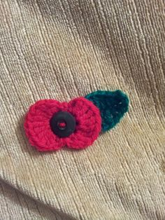 Remembrance day crochet poppy.xx