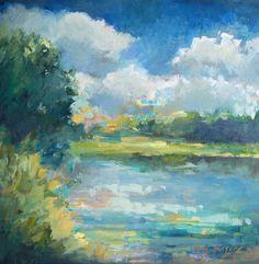 Landscape painting by Erin Fitzhugh Gregory: #OilPaintingLandscape
