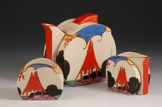 Andrew Muir | Clarice Cliff, Art Deco Pottery, Moorcroft and 20th Century Ceramics DealerSummerhouse stamford teaset C1931