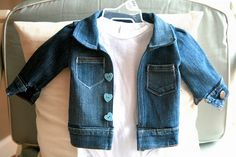 Baby jeans jacket from old jeans sewing tutorial. Just wow!