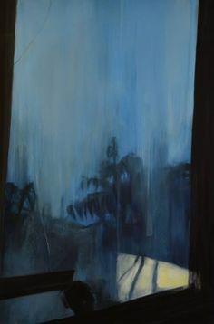 "Saatchi Art Artist Cynthia Gregorová; Painting, ""Blue window"" #art"