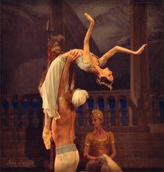"""<<Svetlana Zakharova and Denis Rodkin in """"La Bayadére"""" at the Bolshoi Theatre # Photo © Irina Lepnyova>>"""