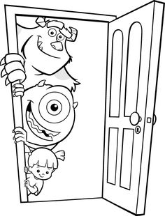 Monsters Inc Coloring Pages Make your world more colorful with free printable coloring pages from italks. Our free coloring pages for adults and kids. Monster Coloring Pages, Cute Coloring Pages, Colouring Pics, Cartoon Coloring Pages, Printable Coloring Pages, Free Coloring, Adult Coloring Pages, Coloring Pages For Kids, Coloring Books