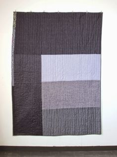 mūsu quilts: Quilt. Denim stripes. Inspired by an untitled piec...