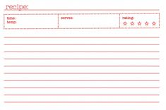 Free Recipe Card Templates For Word Custom 25 Free Printable Recipe Cards  Recipe Cards Free Printable And .