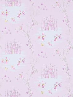BuySanderson Fairy Castle Wallpaper, Pink, DLIT214046 Online at johnlewis.com