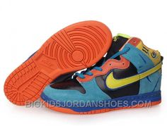 Nike Dunk High Shoes-Cheap Kid's Nike Dunk High Shoes Black/Light Blue/Yellow/Orange For Sale from official Nike Shop. Jordan Shoes For Kids, Michael Jordan Shoes, Air Jordan Shoes, High Heels For Kids, High Shoes, Black Shoes, Nike Shoes Online, Discount Nike Shoes, New Jordans Shoes