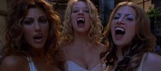 From left to right, Jennifer Esposito as Solina, Jeri Ryan as Valerie Sharpe, Colleen Fitzpatrick as Lucy Westerman by Dracula 2000, also known internationally as Dracula 2001,  2000 American action horror film written and directed by Patrick Lussier.