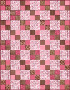 Another easy peasy quilt :), fussy cut fabrics for bigger squares, good for some expensive fabrics.
