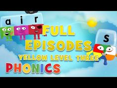 Alphablocks - YELLOW LEVEL 3 | Full Episodes | #LearningFromHome - YouTube Phonics Sounds, Phonics Lessons, Full Episodes, Learn To Read, Level 3, Lettering, Writing, Learning, Yellow