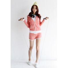 Korea Star Fashion 44-55사이즈 후드 집업 트레이닝 SET 캐주얼한 스타일의 트레이닝 세트 군더더기 없이 깔끔하고 베이직한 라인을 선사하며 후드집업과 트레이닝 숏팬츠가 세트인 착한 가격의 아이 - 17,800원 by 해피BOX