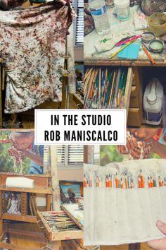 In The Studio: Rob Maniscalco #hkpowerstudio #inthestudio #artiststudio #inthestudio