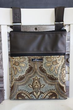 Eco-fabulous, cross-body flatbag or sassy spot for your ipad.  Either way, it's the right thing to do.  Diverted landfill XS textile bags by Echoes.  Upcycle baby!