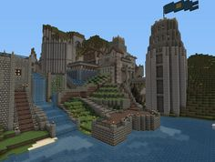 Minecraft - Fortress Enormicus - d - Minecraft Mansion, Minecraft Castle, Minecraft Plans, Minecraft Survival, Minecraft Blueprints, Cool Minecraft Houses, Minecraft Buildings, Minecraft Stuff, Cool Minecraft Creations