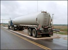 Tanker Truck on Vehicle Containment Pad