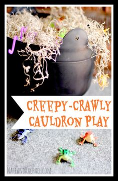 More crawly than creepy, your kids may surprise you with how they interact with this simple and fun Halloween play invitation from Nothing i...