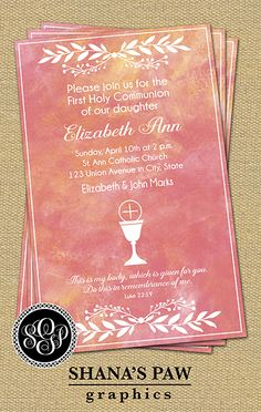 20 Best First Communion Invitations Images Card Templates First