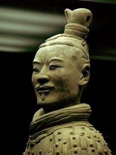 Chinese Terracotta officer. I was fortunate to see this in Seattle at a china exhibit when I was 12. Amazing!