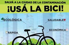 Salva a la ciudad de la contaminación. Usa la bici!!!