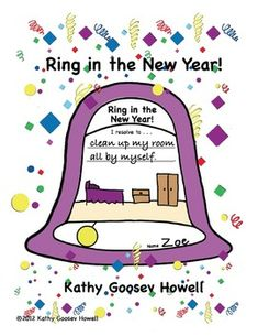 FREE - Ring in the New Year with this cute bell and have your students write their resolutions.