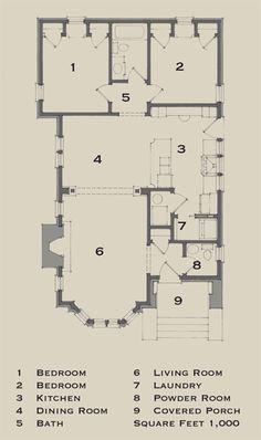 New Old Bungalow   Plan One   Floor Plan