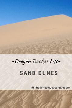 Are you planning a trip to Oregon? Here you can see the bucket list items that I put together for your travels and WHY you should consider them. Coos Bay Oregon, Oregon Dunes, Oregon Coast, Oregon Road Trip, East Coast Road Trip, Oregon Travel, Opal Creek Oregon, Lincoln City Oregon, Florence Oregon